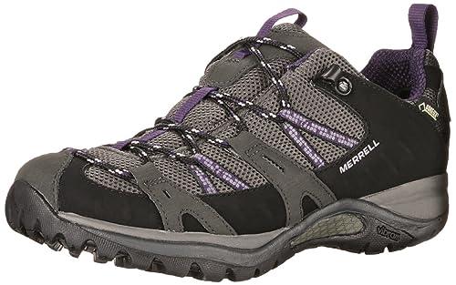 Merrell Women's Siren Sport GTX/Black/Perfect Plum Hiking Shoes, Black/  Perfect