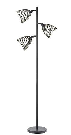 Amazon.com: LeeZM Lámpara de pie moderna, color negro ...