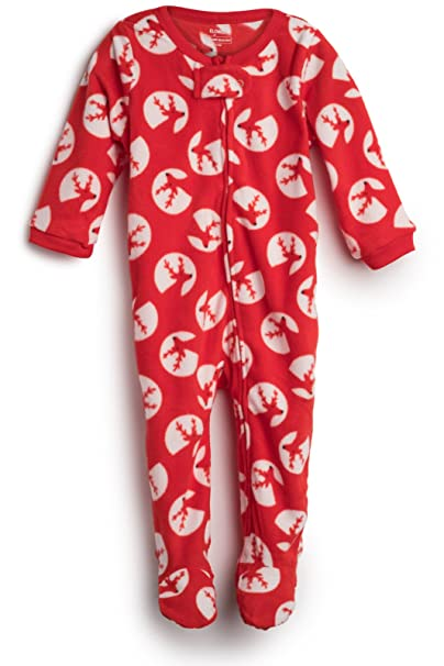 7806ab5bf1 Amazon.com  Elowel Baby Girls Footed Fleece Sleeper Pajamas (Size 6M ...