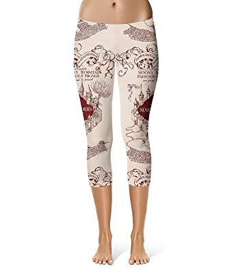 Pantalon Femme Maraudeur Carte Sport Capri Leggings Workout Fitness breal  Stretch Pantalon De Taille Élastique Pantalon De Survêtement  Amazon.fr   Vêtements ... a3553a9b59f