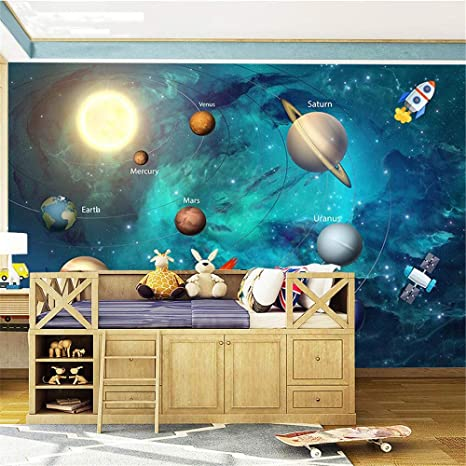 3D Tapete, Weltraum Universum Kinderzimmer Sternenhimmel ...