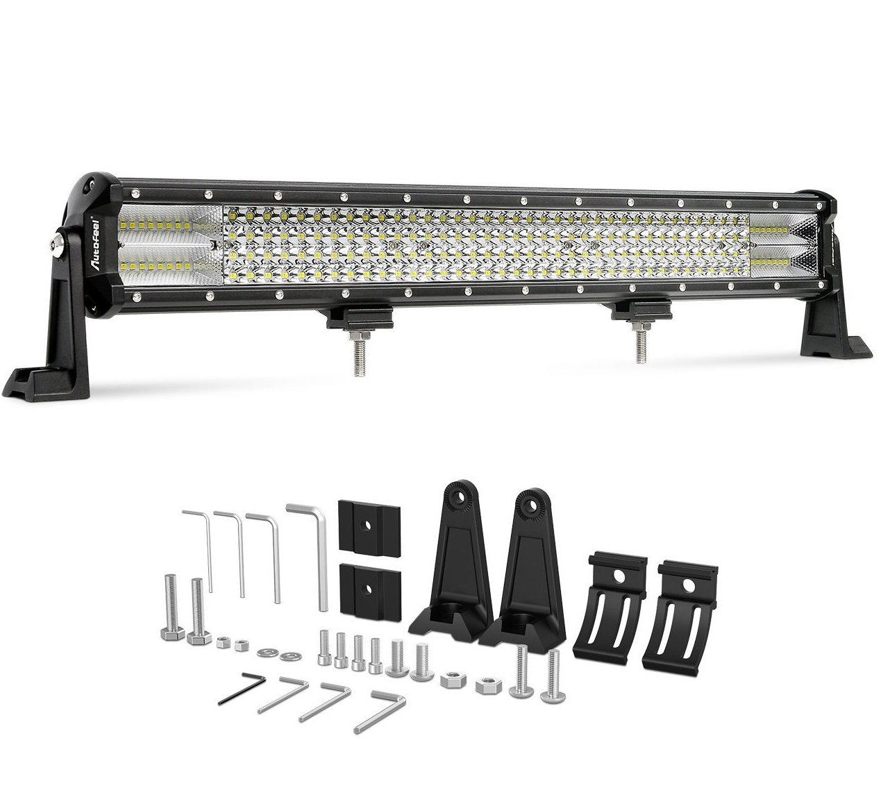 Led Light Bar Autofeel 23 Inch Quad Row Driving Lights Emergency Lighting Wiring Diagram Free About Spot Flood Combo Beam Of Road With Slide Mounting