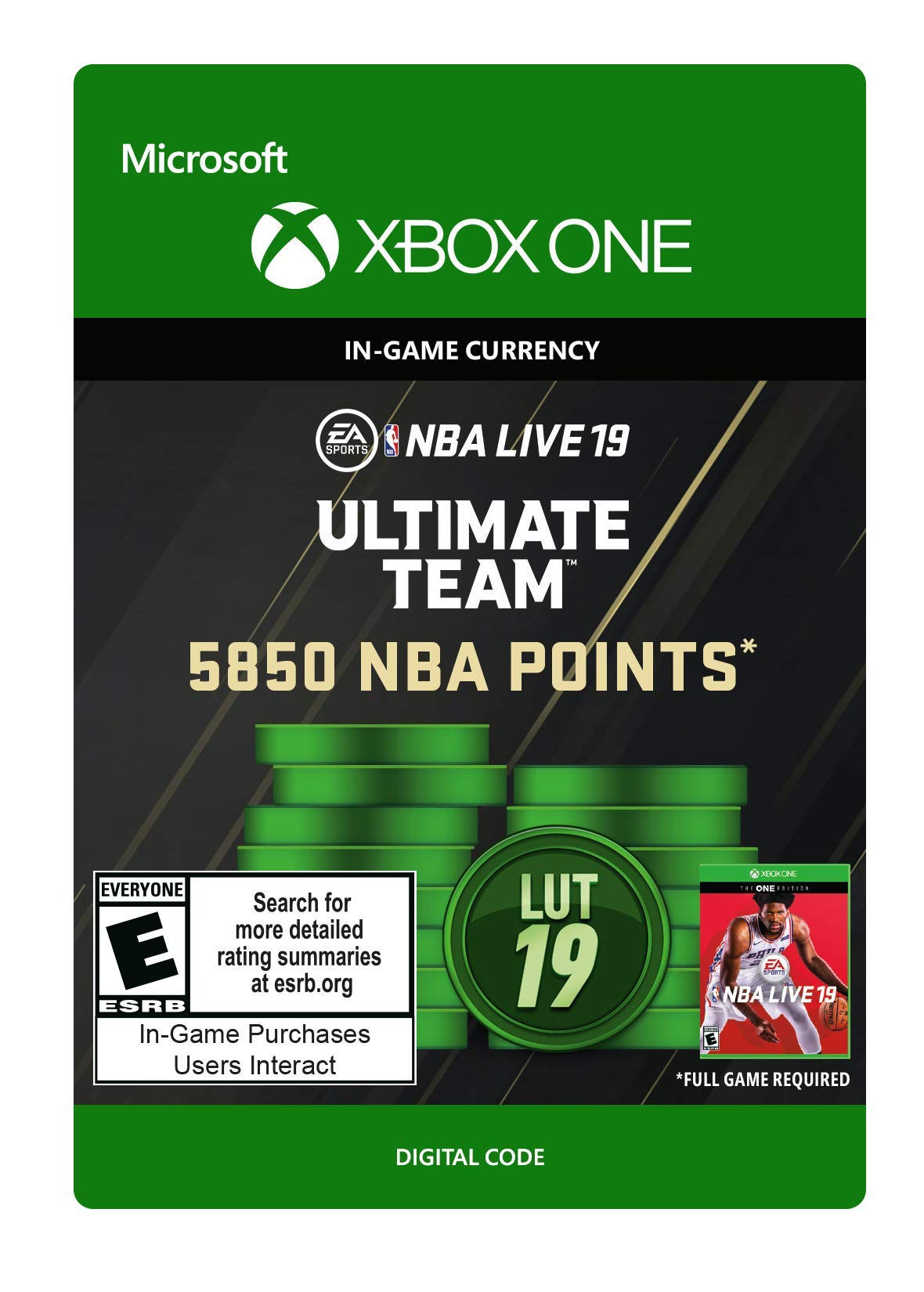 NBA LIVE 19: NBA UT 5850 Points Pack - Xbox One [Digital Code]