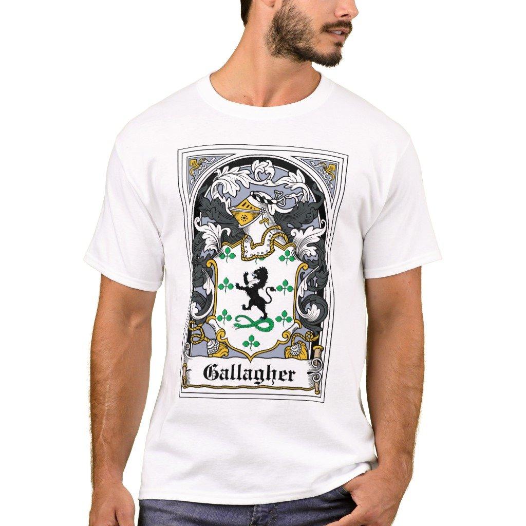 Amazon Zazzle Mens Basic T Shirt Gallagher Family Crest T