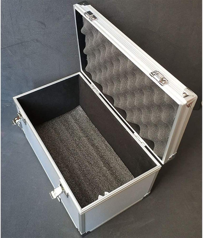 Tool Storage Box Aluminum Alloy Tool Case Portable Outdoor Vehicle Kit Box Equipmen Safety Equipment Instrument Case Suitcase Outdoor Tool Box (Color : Black) Black