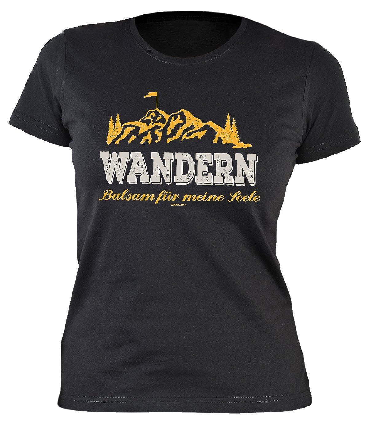 Wandern M/ädchen Pilgern Spr/üche T-Shirt Damen WANDERN Balsam Wanderer Bergsteiger Berge Print Bergsport Wallfahrt