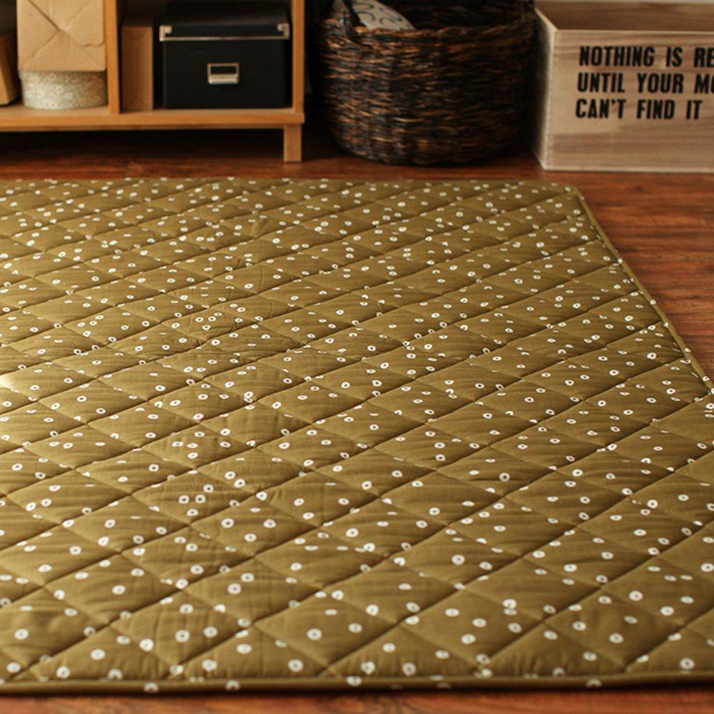 GX&XD Vintage Tatami floor mat,Folding mattress Floor lounger cover Floor mattress Tatami mats Carpet Creeping mats-A 180x140cm(71x55inch)