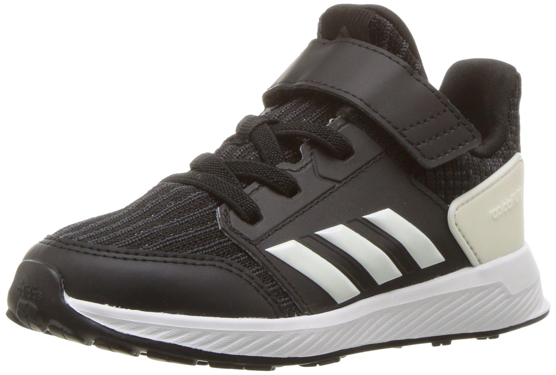 adidas Originals Baby Rapidarun Running Shoe, Black/Cloud White/Carbon, 5.5K M US Toddler