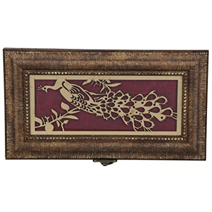 Buy Aaina Peacock Laser Work With Border Design Laser Work Wooden