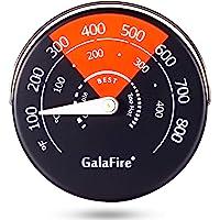 GALAFIRE Termómetro magnético para estufas de leña, estufas de gas, estufas de pellet, estufas de pellet, evitar daños…