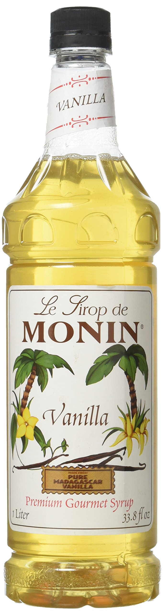 Monin Vanilla Drink Syrup - Great For Flavoring Coffee, Shakes, And Cocktails - 1