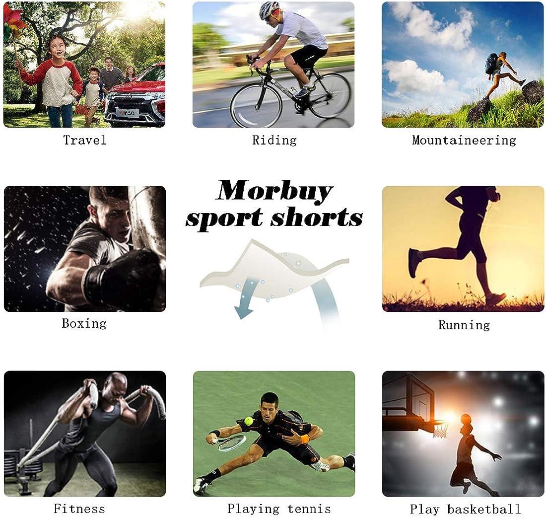 Morbuy Pantaloncini Sportivi da Uomo 2 in 1 Bermuda Estate Shorts Pantaloni con Tasche in Vita Elasticizzata per Palestra Allenamento Fitness Jogging Running