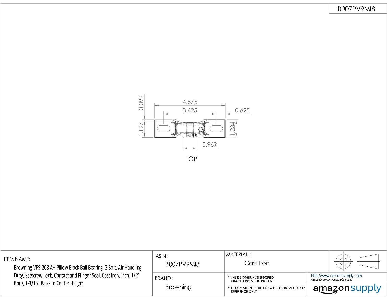 Amazon.com: Browning vps-208 Ah Pillow Block Rodamientos de ...