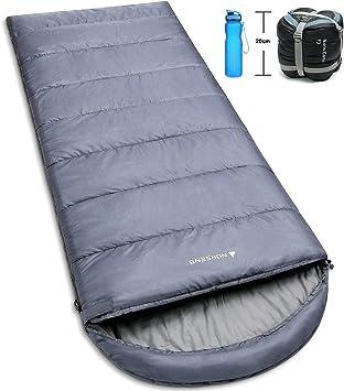 Ultralight Warm Weather Rectangular Sleeping Bag Small Compact Light Waterproof