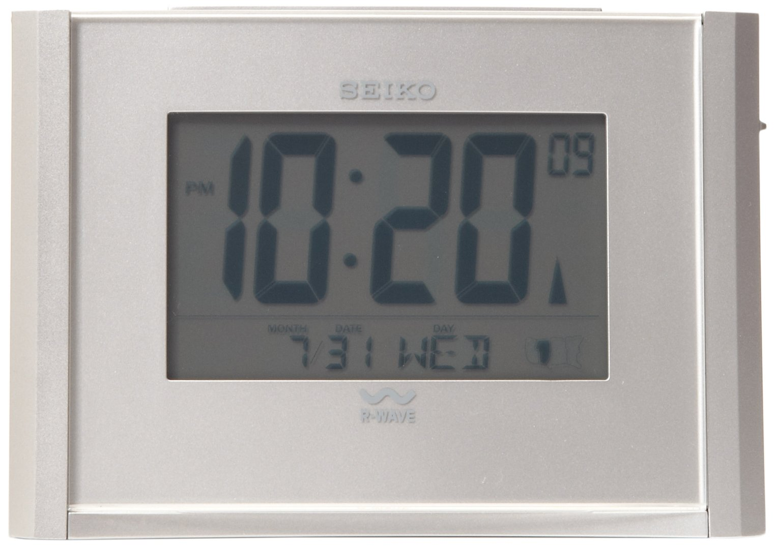 Seiko Advanced Technology Bedside Alarm Get Up and Glow Clock by Seiko
