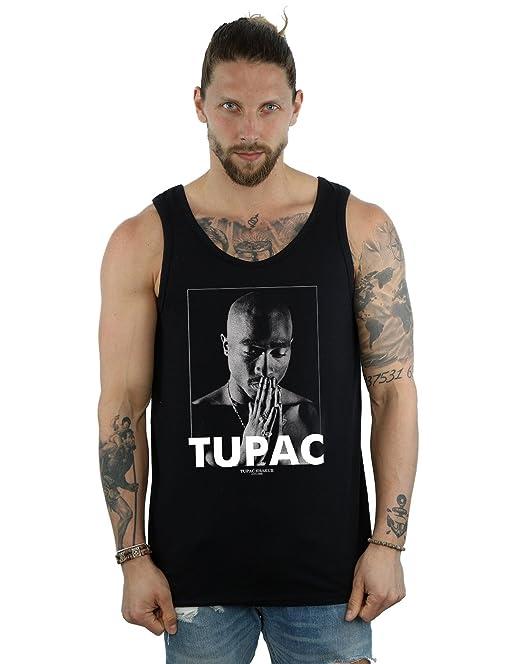 2Pac Hombre Tupac Shakur Praying Tank Top kdJrzFv24