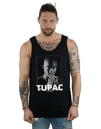 b35406372 2Pac Hombre Tupac Shakur Praying Tank Top  Amazon.es  Ropa y accesorios