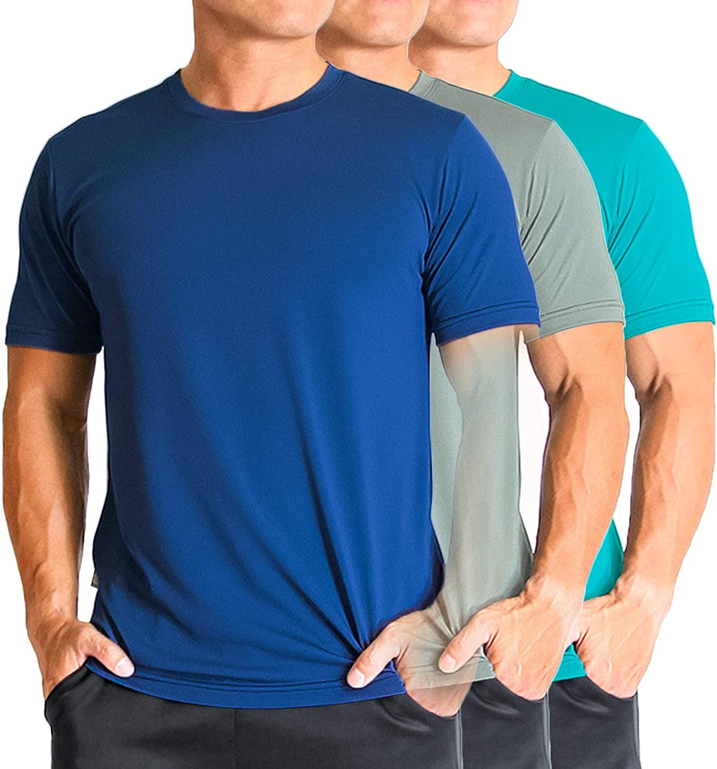 Litume Mens Quick Dry UV Sun Protection T Shirt for Running Hiking Odor Control Workout Outdoor Activities
