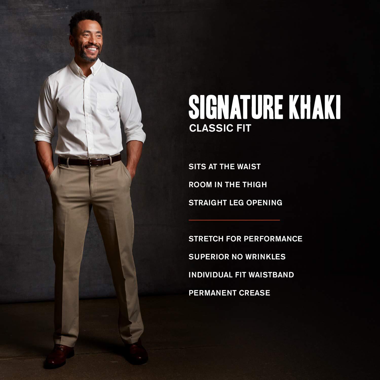 Dockers Mens Classic Fit Signature Khaki Lux Cotton Stretch Pants