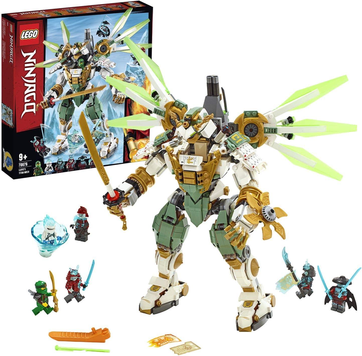 LEGO Ninjago - Titán Robot de Lloyd Set de construcción con Ninja Gigante de Juguete, incluye Minifiguras de Samurais, Novedad 2019 (70676) , color/modelo surtido