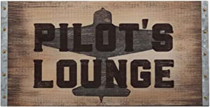 Open Road Brands Pilot's Lounge, MDF Wood Wall Sign Art - an Officially Licensed Product Great Addition to Add What You Love to Your Home/Garage Decor