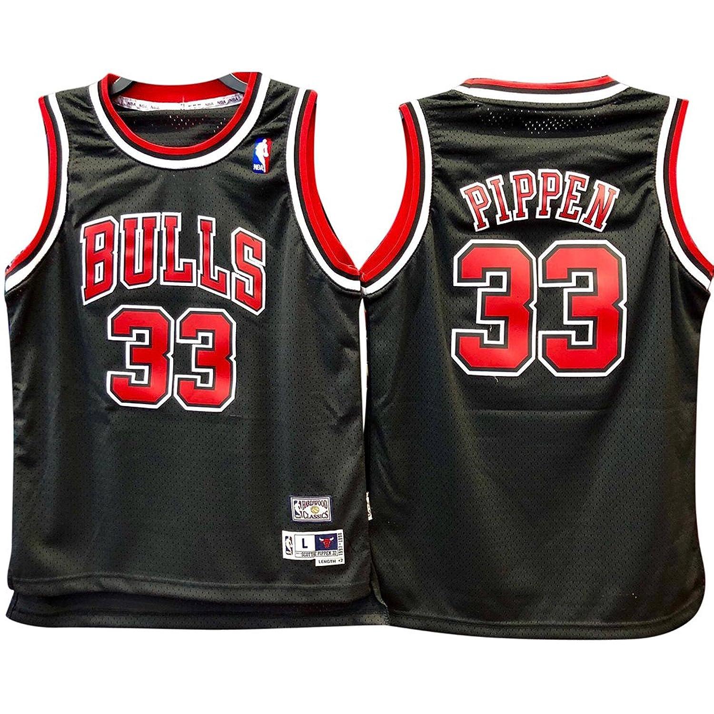 quality design 34488 66b68 adidas Scottie Pippen #33 Chicago Bulls Youth Black Swingman ...