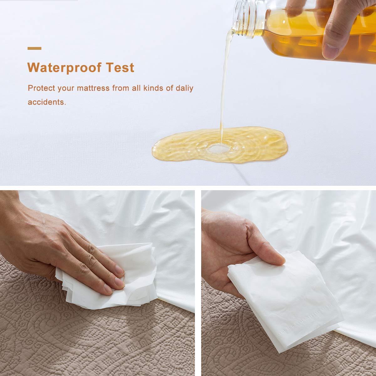 Knitting Top Vinyl Free Guher Twin Size Waterproof Mattress Protector Premium Hypoallergenic Bed Mattress Protector