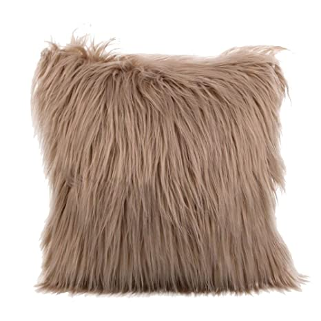 Kinlene Funda de cojín Furry de Felpa Funda de Almohada Throw Home Bed Room Sofa DecorKinlene Funda de cojín Furry de Felpa Funda de Almohada Throw ...