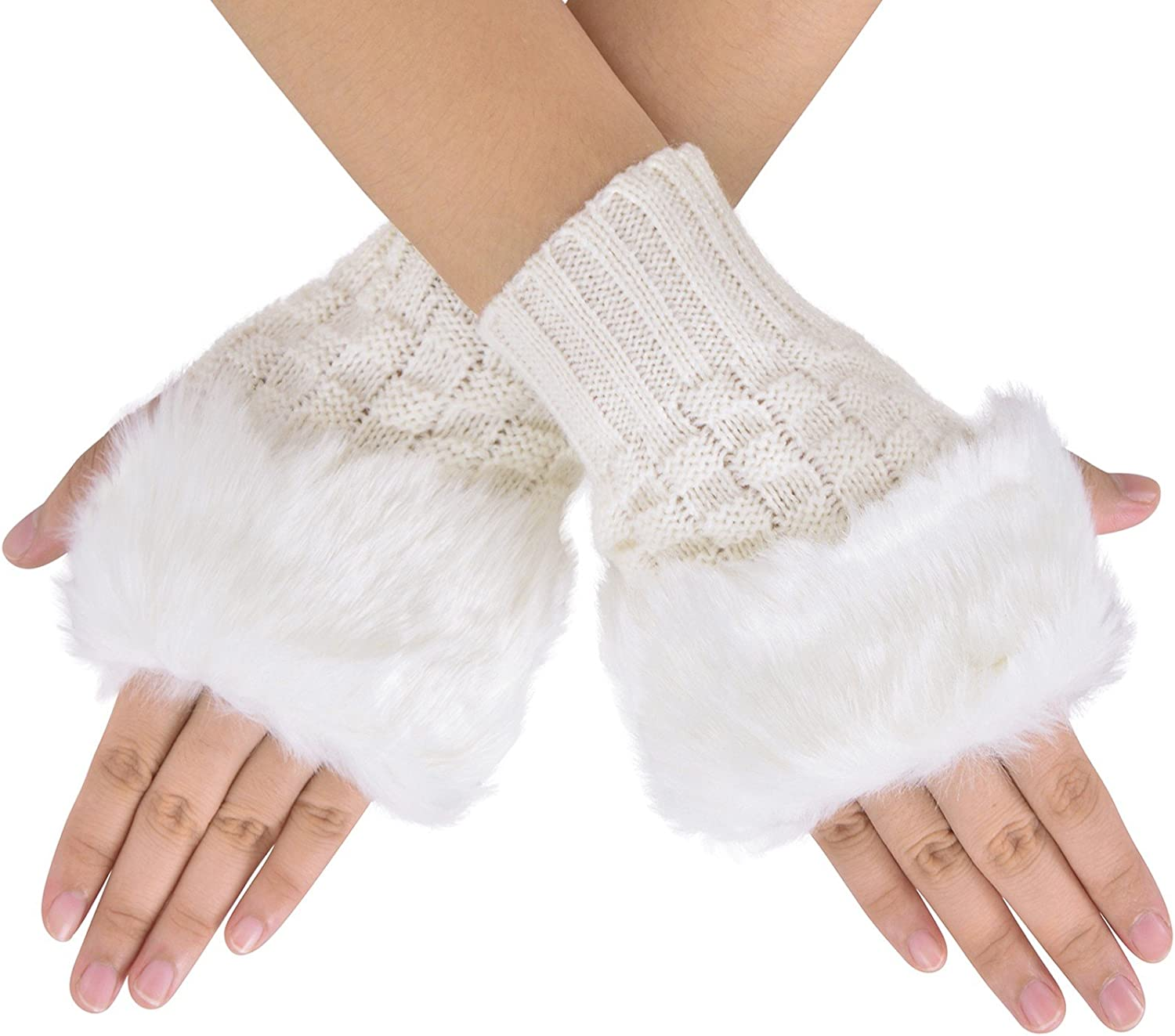 Women's Faux Fur Arm...