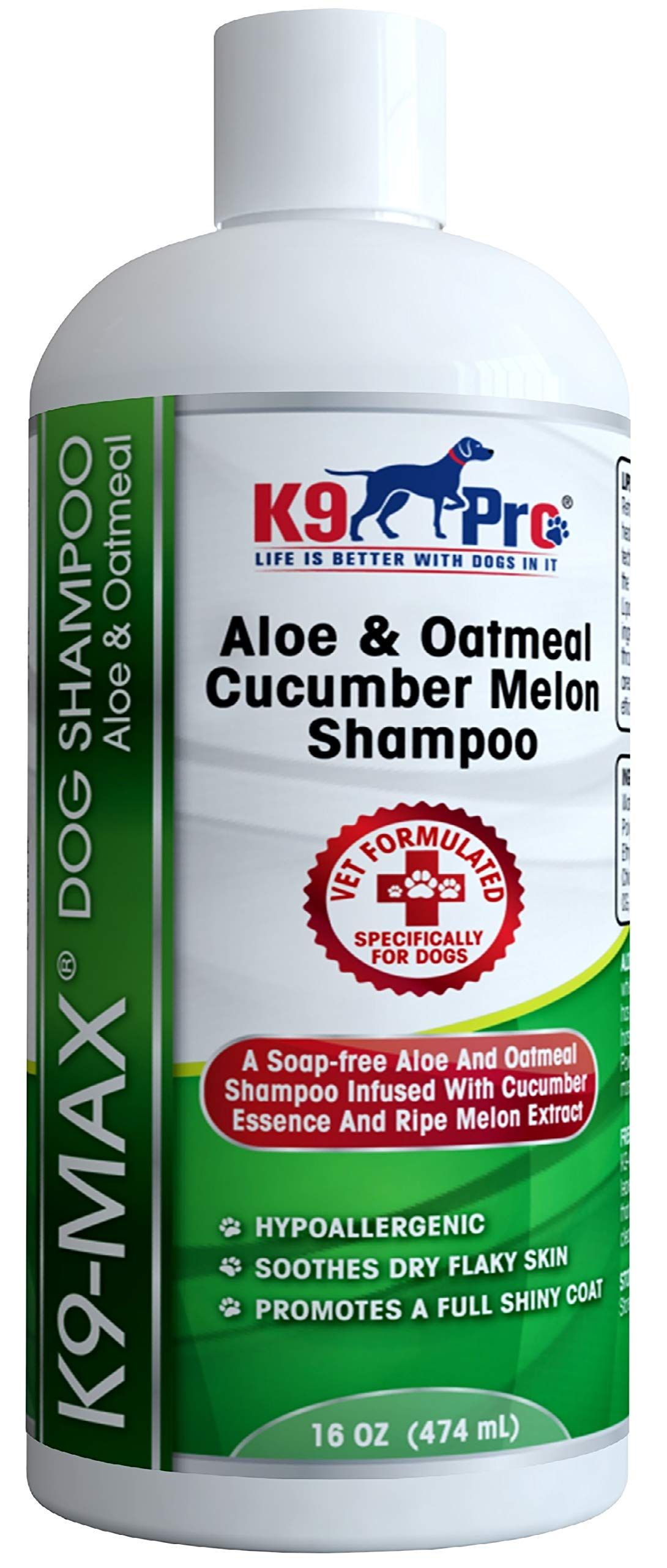 Oatmeal & Aloe Dog Shampoo and Conditioner For Dogs With Allergies And Dry Itchy Sensitive Skin. Best Hypoallergenic Medicated Tear Free Anti Itch Puppy Shampoo With Cucumber Essence & Melon Extract