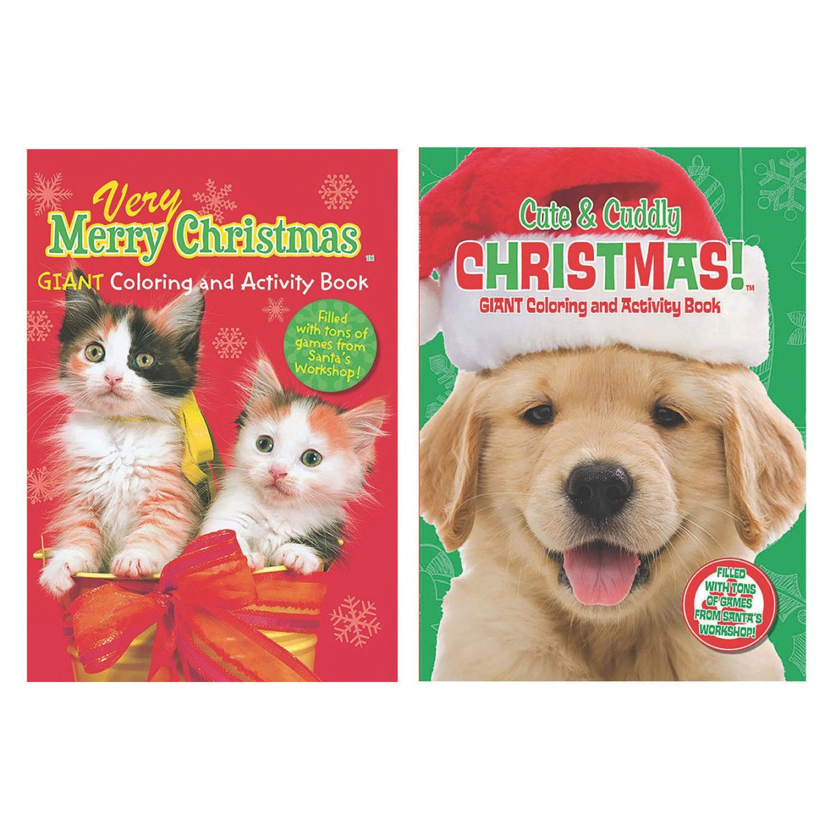 Amazon Very Merry Christmas Giant Coloring And Activity Book Cats Toys Games