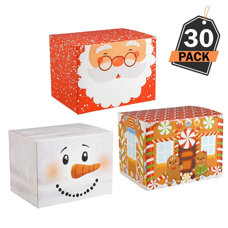 30 Stück Geschenk-Box Set, für Weihnachtsleckerbissen und Geschenke ...