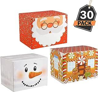 30 Cajas para Empaque de Regalos Navideños– Mejor que el Papel de Embalaje de Navidad – Ideal para Empacar Productos de Repostería, Dulces - Articulo de Papelería para Decoración de Obsequios: Amazon.es: