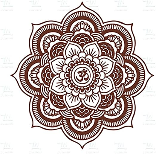 Respetuoso del medio ambiente Mandala grande vinilo tatuajes de ...