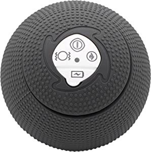MyoStorm Heating Vibrating Massage Ball Roller for Deep Tissue Muscle Recovery Therapy and Pain Relief w/ 3 Speed Vibration + 2 Heat Settings (Charcoal)