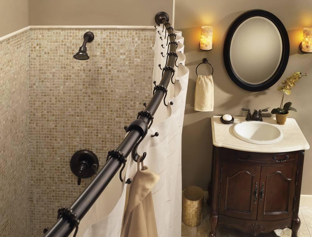Amazon.com: Moen CSR2160OWB Adjustable Curved Shower Rod, Old ...