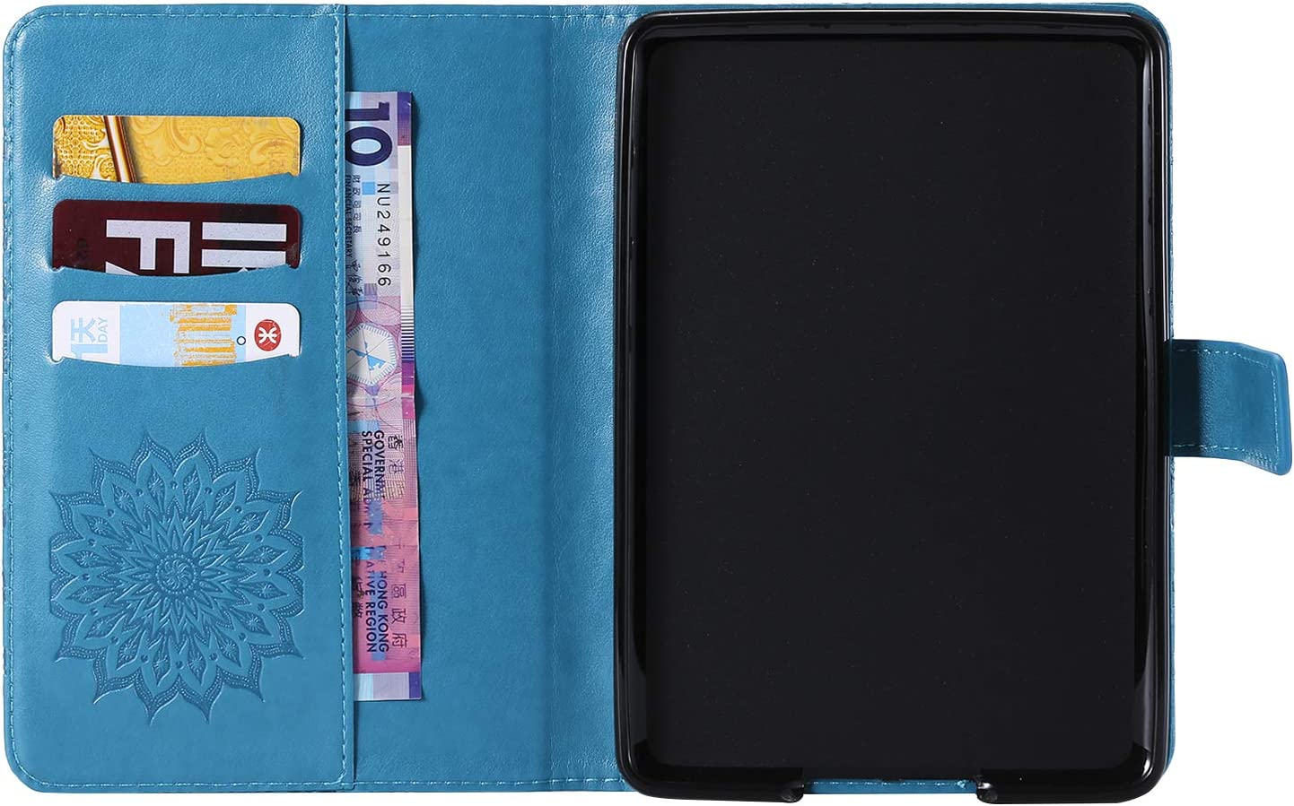 Cfrau for  Kindle Paperwhite 1//2//3//4 Kickstand Wallet Case with Black Stylus,Cute Sunflower Mandala Embossed Smart Magnetic Flip PU Leather Card Slots Shockproof Soft Rubber Tablet Case,Brown