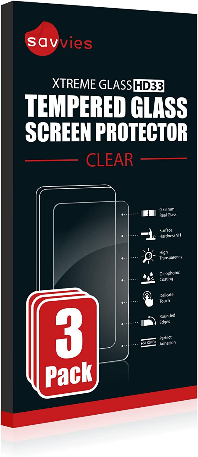 9H Hardness Savvies 3-Pack compatible with Sony Cyber-Shot DSC-RX100 VII Tempered Glass Screen Protector
