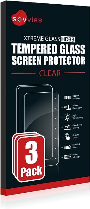 Savvies Panzerglas kompatibel mit Garmin Approach S62 9H H/ärte Anti-Fingerprint Echt-Glas