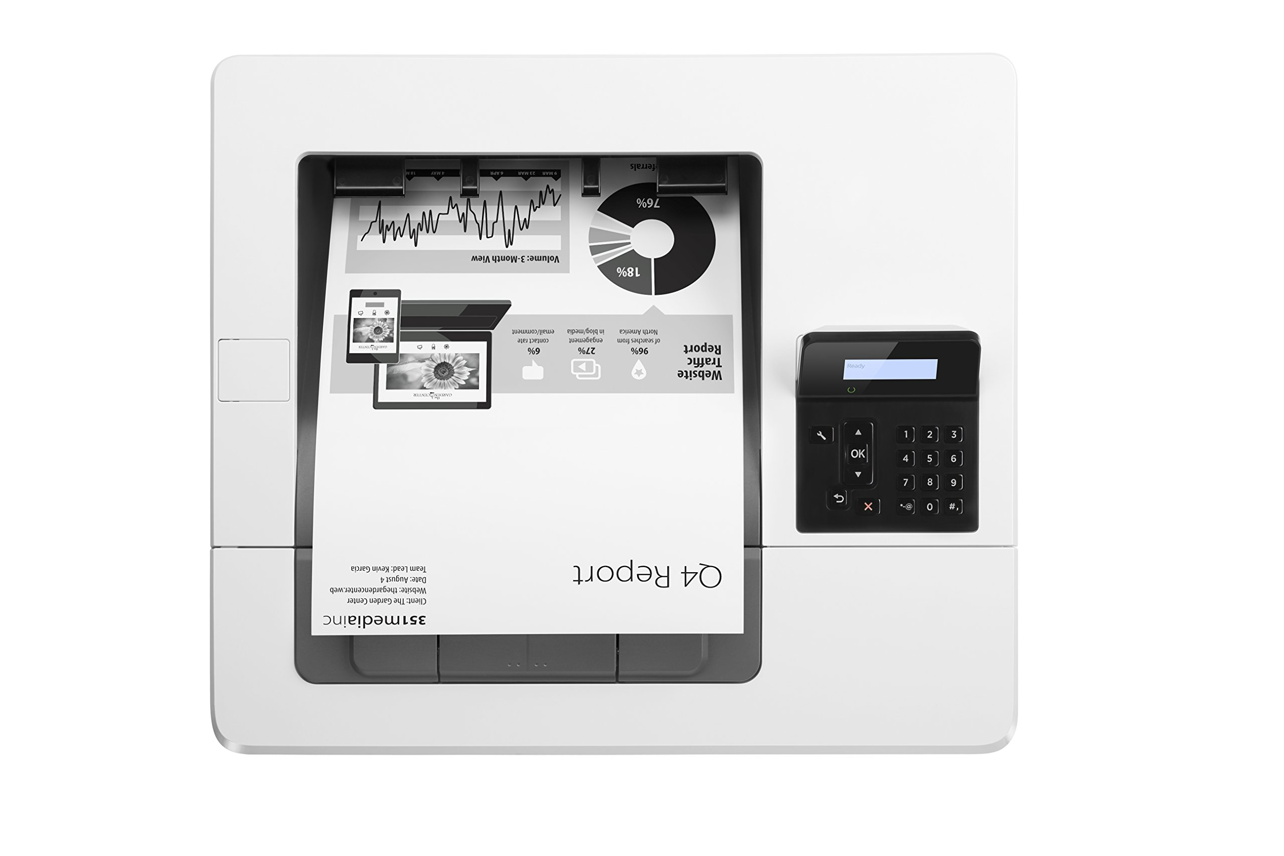 HP Monochrome LaserJet Pro M501dn w/ HP JetAdvantage Security, (J8H61A#BGJ) by HP (Image #4)