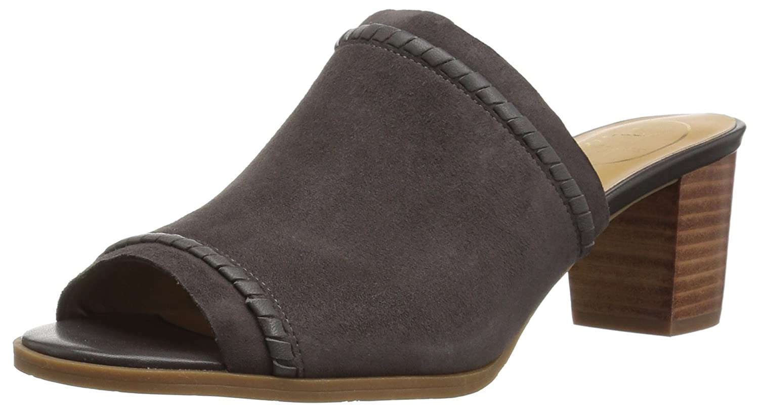 Jack Rogers Women's Campbell Suede Slide Sandal B078WZCBR3 8 M US|Charcoal Suede