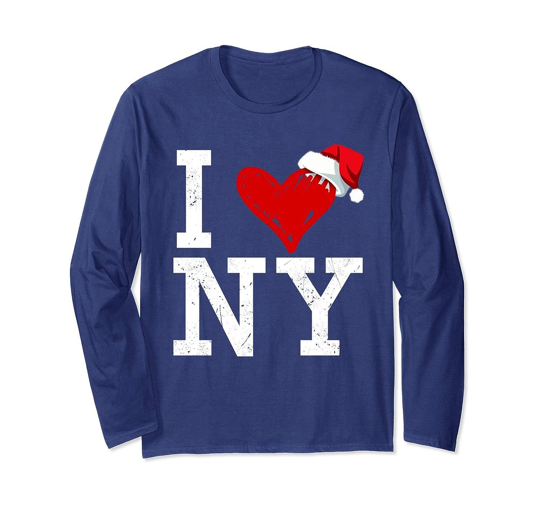 e694f816 Amazon.com: I Love NY New York City Christmas Long Sleeve Unisex T-Shirt:  Clothing