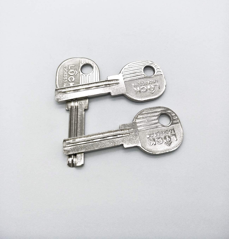 ASIN # B075XFSB6X 5 unidades para la palanca de la puerta Qrity Llaves en blanco