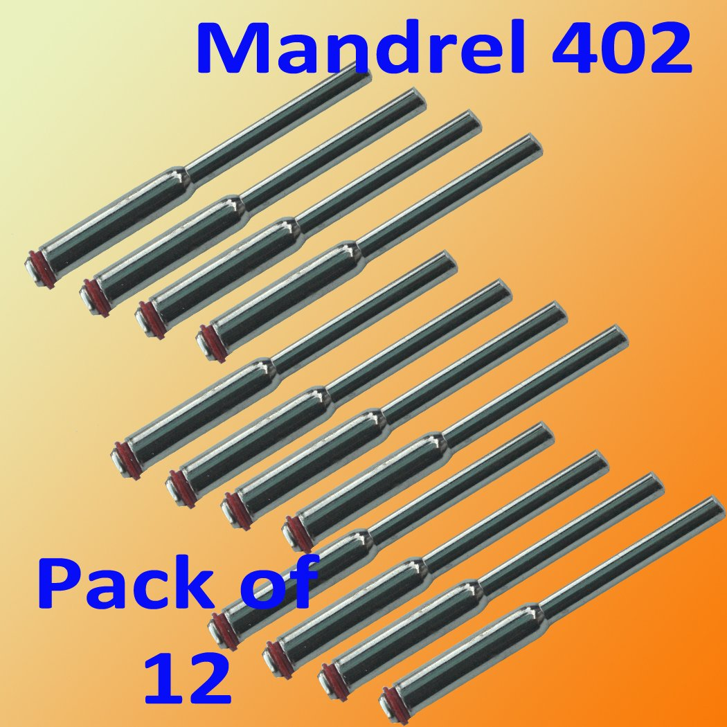 "12 Pcs 1/8"" Shank Mandrel w/ 1/16"" Screw 402 Cut Off Wheels Disc Dremel 426 409 Rotary Rotary Tool 1/8"" Shank Suit for Dremel 3000 4000 8220-2/28 395 7700-1/15 4000 3/34 Chicago Electric, Milwaukeen Nextec 1/8"" Shank Hobbyy Clean Polish"