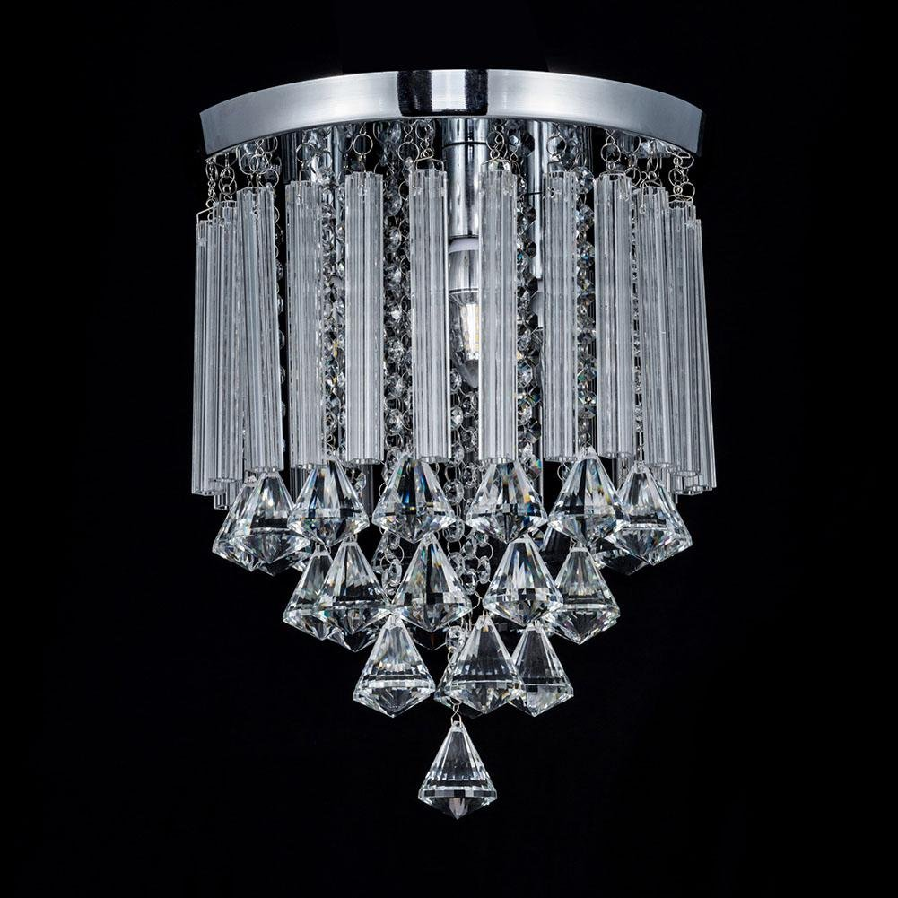 Luxury Crystal Ceiling Light Chandelier, AOKARLIA Corridor Lights Aisle Lamp, LED Hallway Pendant Lamp [Energy Class A+], 20CM by AOKOALA (Image #3)