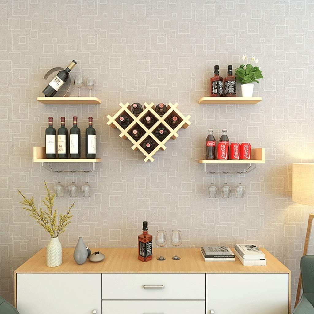 ZXUE Gabinete de Vino montado en la Pared Creativo Wine ...