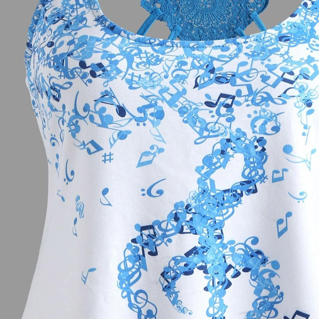 Donna Stampa di Caratteri a Tono Senza Maniche Cinghie Incrociate Panciotto, T-Shirt Canottiere Canotta Felpe Benda Chiffon Tunica Casual Vest Elegante