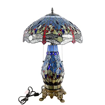 Warehouse Of Tiffany S T18275tgrb Dragonfly Tiffany Style Table Lamp