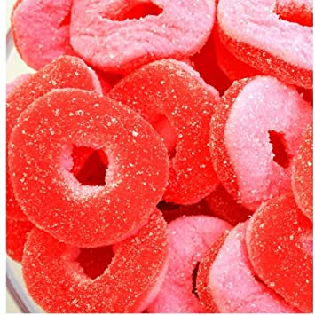 nutstop product gummy bulk candy rings peach