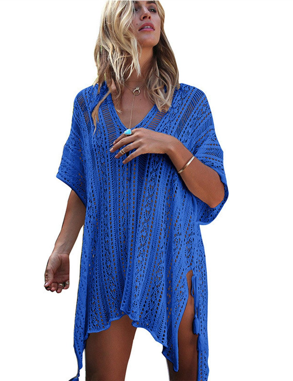 Beach Coverups for Women, Bathing Suit Cover Ups, Swimsuit Cover Up by ALPSAZON Black HNZY cover-ups 003